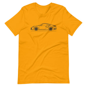 Porsche 911 991.1 Turbo T-shirt Gold
