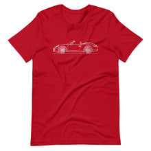 Load image into Gallery viewer, Porsche 911 991.1 Cabriolet T-shirt Red