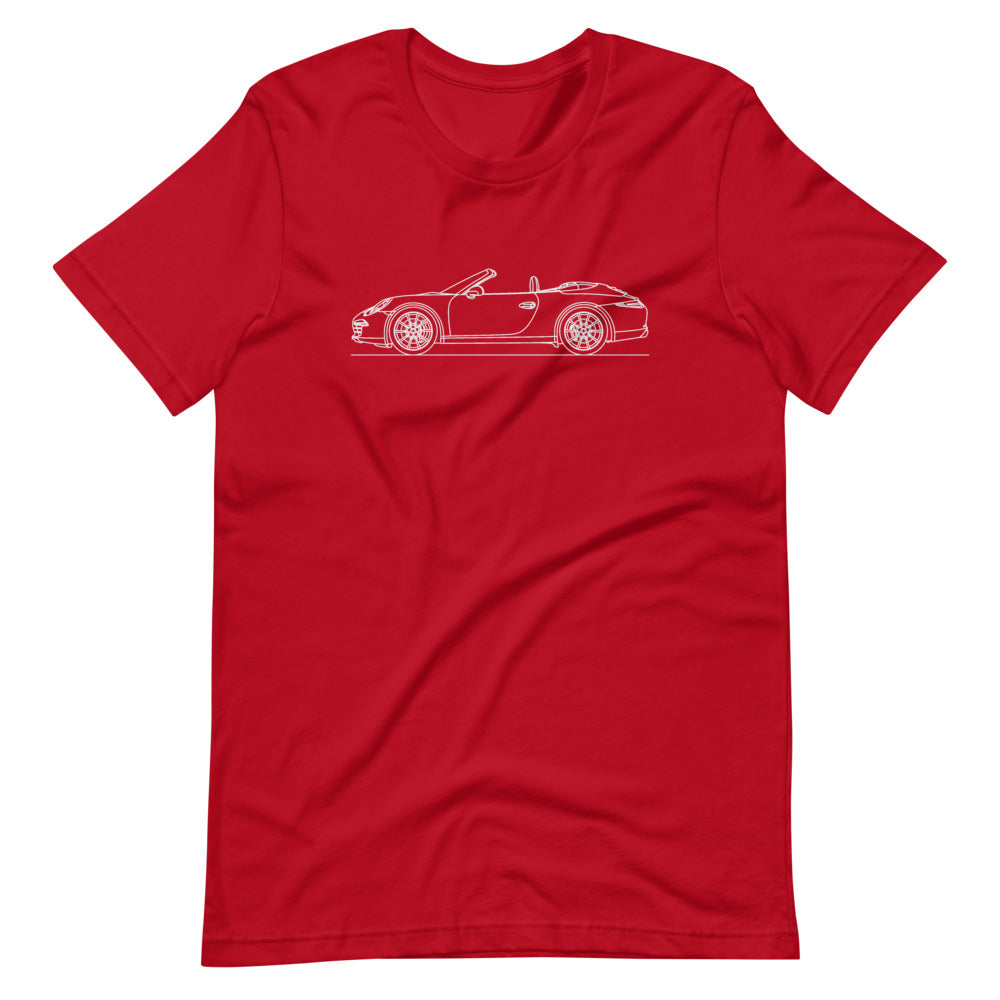 Porsche 911 991.1 Cabriolet T-shirt Red