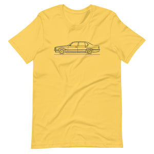 BMW E32 750iL T-shirt Yellow - Artlines Design