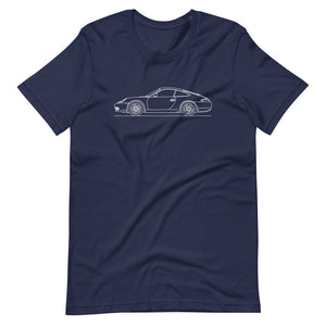 Porsche 911 996 T-shirt Navy - Artlines Design