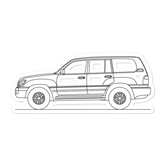 Lexus LX 470 J100 Sticker - Artlines Design