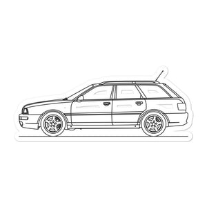 Audi RS2 Avant Sticker - Artlines Design