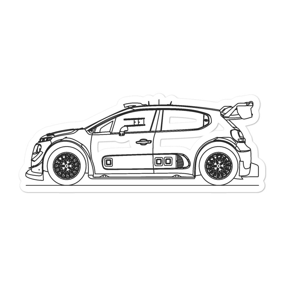 Citroën C3 2nd Gen WRC Sticker