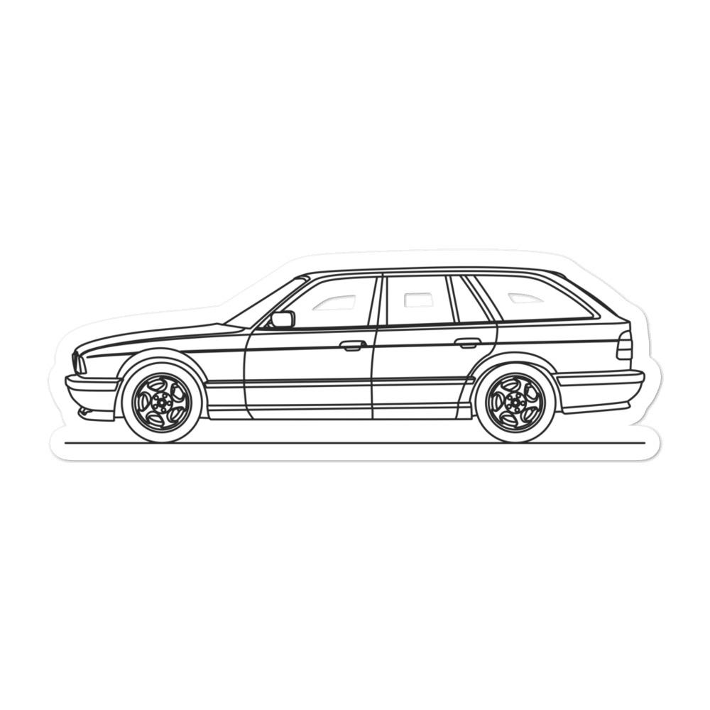 BMW E34 M5 Touring Sticker - Artlines Design