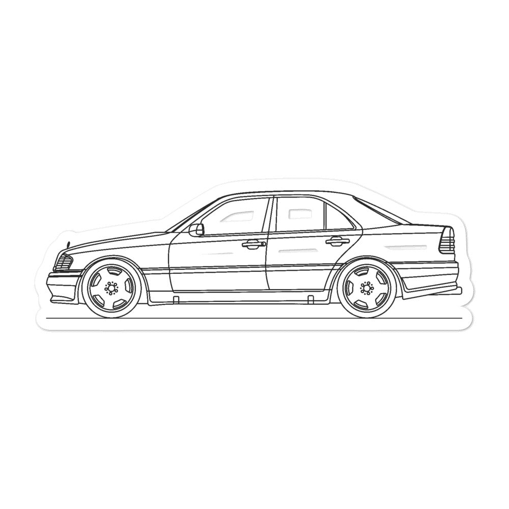 Mercedes-Benz W202 C 36 AMG Sticker