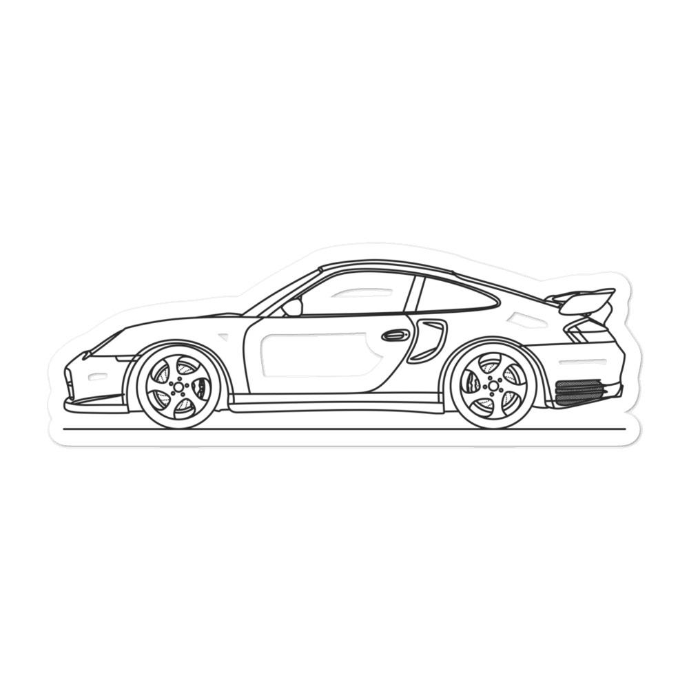 Porsche 911 996 GT2 Sticker - Artlines Design