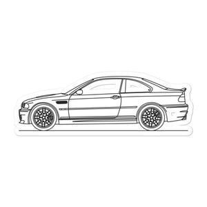 BMW E46 M3 Coupe Sticker
