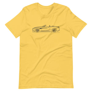 Aston Martin Vanquish S Volante Yellow T-shirt - Artlines Design