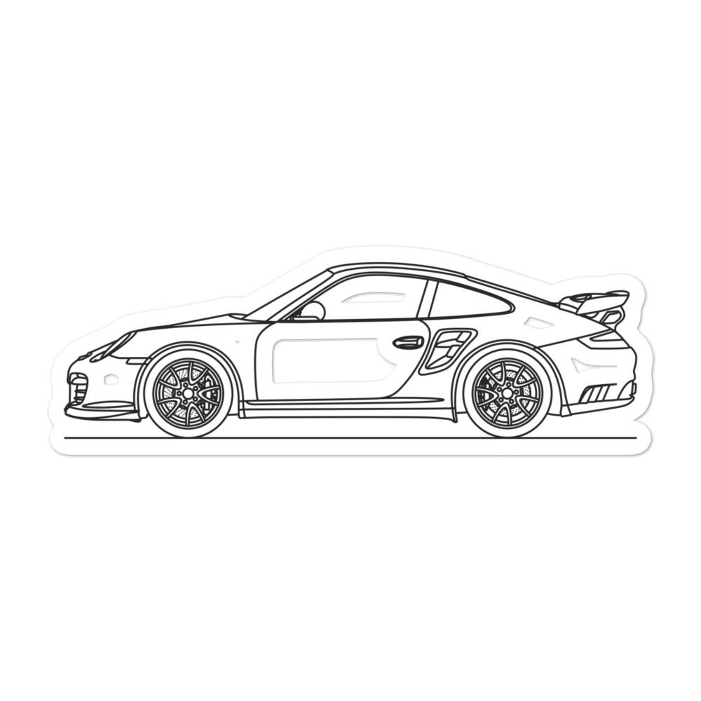 Porsche 911 997.1 GT2 Sticker - Artlines Design