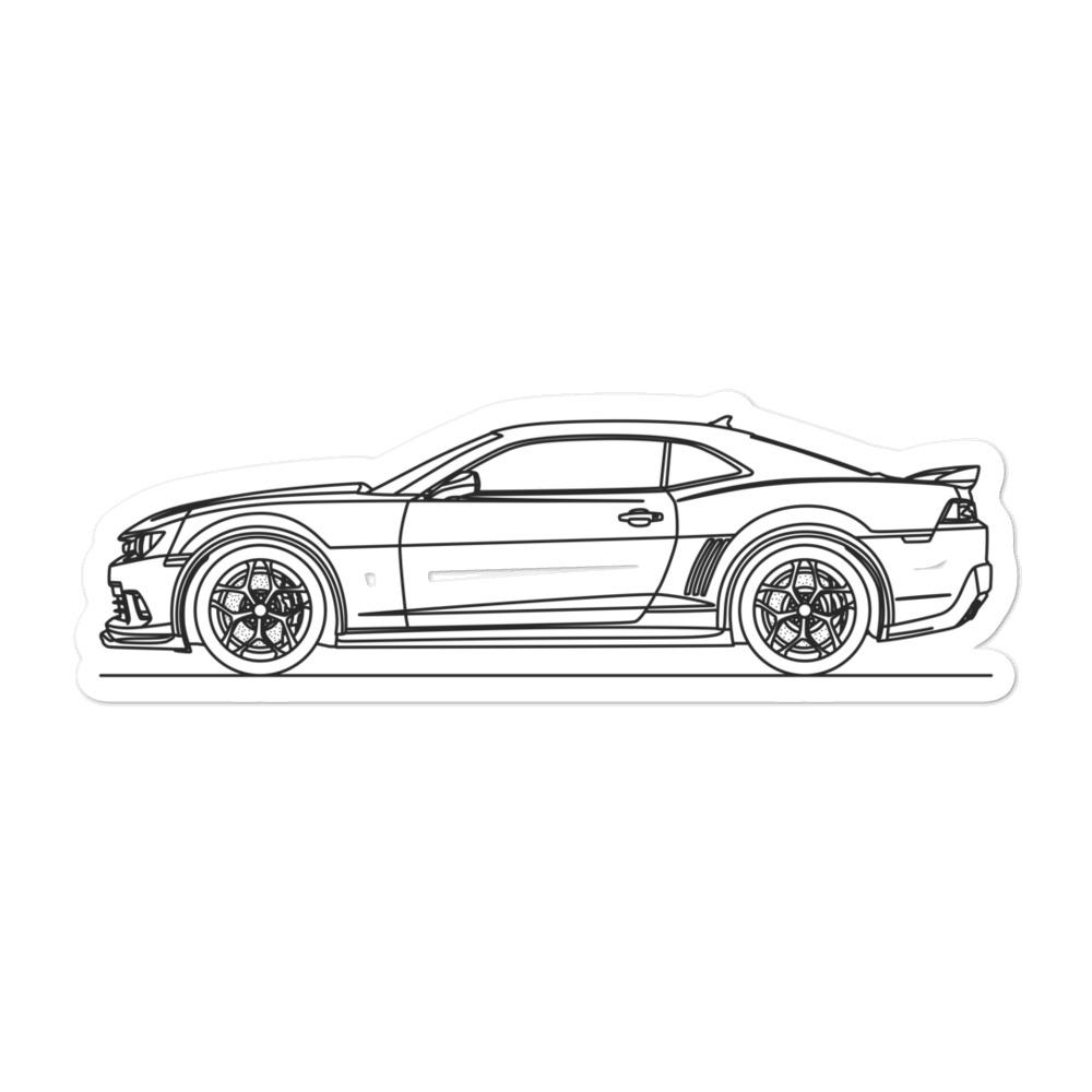Chevrolet Camaro Z28 V Sticker - Artlines Design