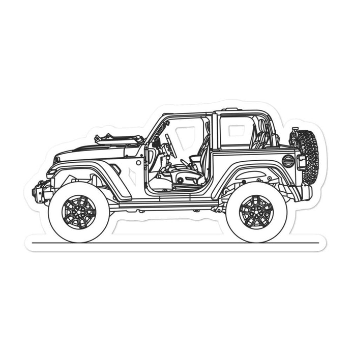 Jeep Wrangler JL Rubicon Sticker