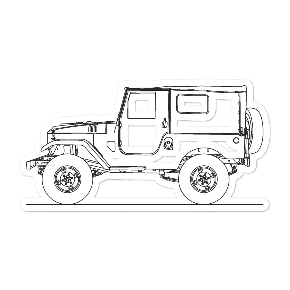 Toyota Land Cruiser J20 Sticker