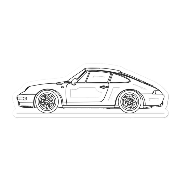 Porsche 911 993 Sticker - Artlines Design