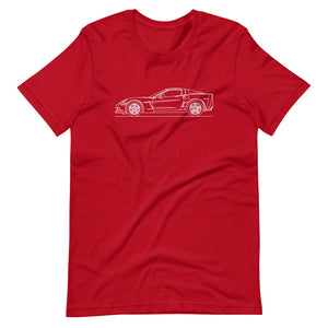 Chevrolet Corvette C6 Z06 T-shirt Red - Artlines Design