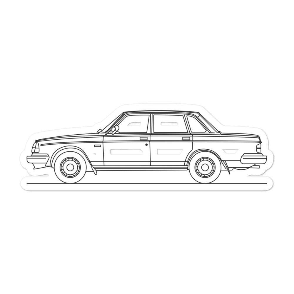 Volvo 240 Sedan Sticker - Artlines Design