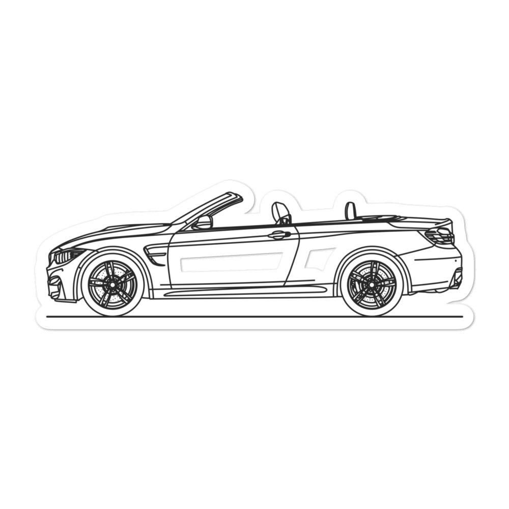BMW F83 M4 Sticker - Artlines Design