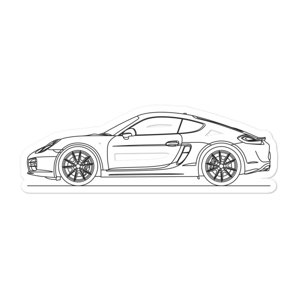 Porsche Cayman S 981 Sticker