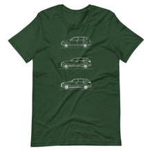 Load image into Gallery viewer, Porsche Cayenne Evolution T-shirt Forest - Artlines Design