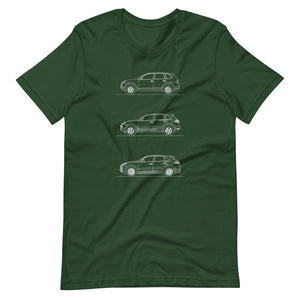 Porsche Cayenne Evolution T-shirt Forest - Artlines Design