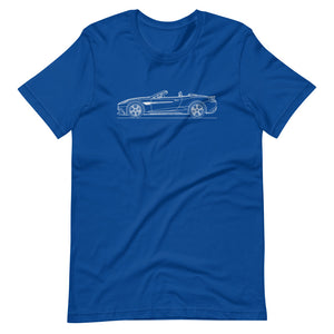 Aston Martin Vanquish S Volante True Royal T-shirt - Artlines Design