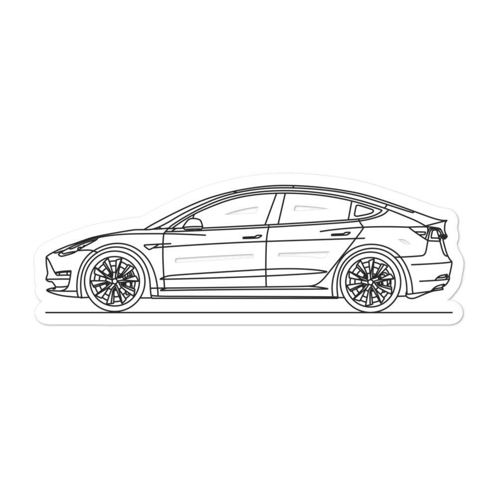 Tesla Model 3 Sticker - Artlines Design