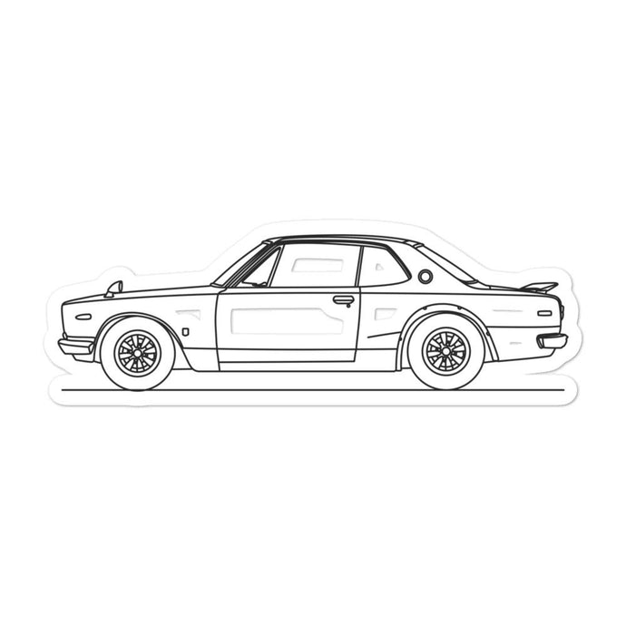 Nissan KPGC10 GT-R Sticker - Artlines Design