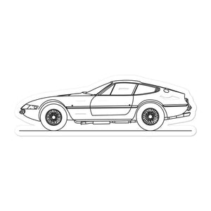 Ferrari 365 Daytona Sticker - Artlines Design
