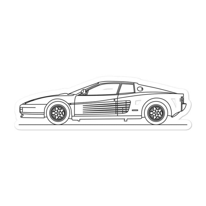 Ferrari Testarossa Sticker - Artlines Design