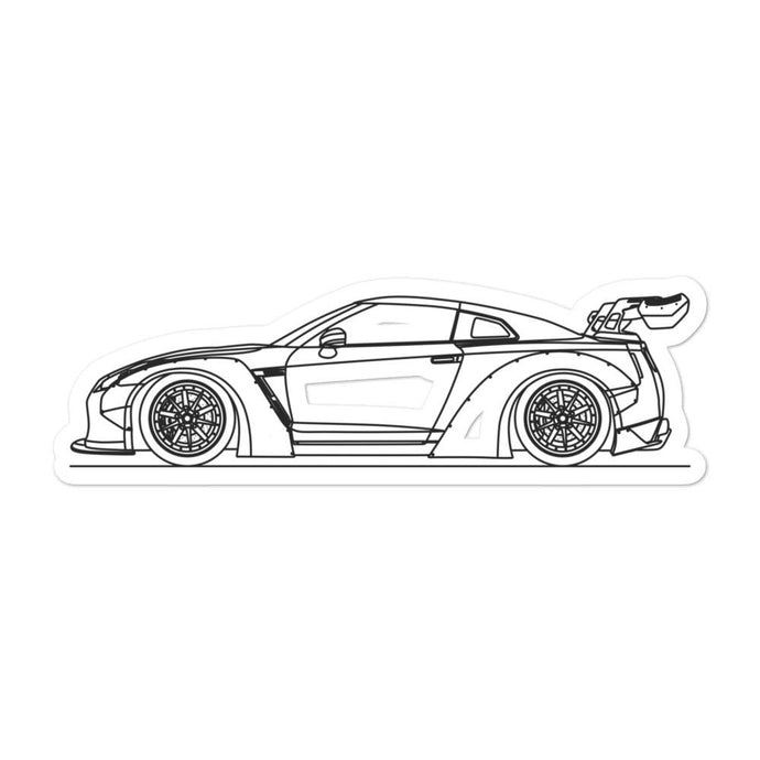 Nissan GT-R R35 Liberty Walk Sticker - Artlines Design