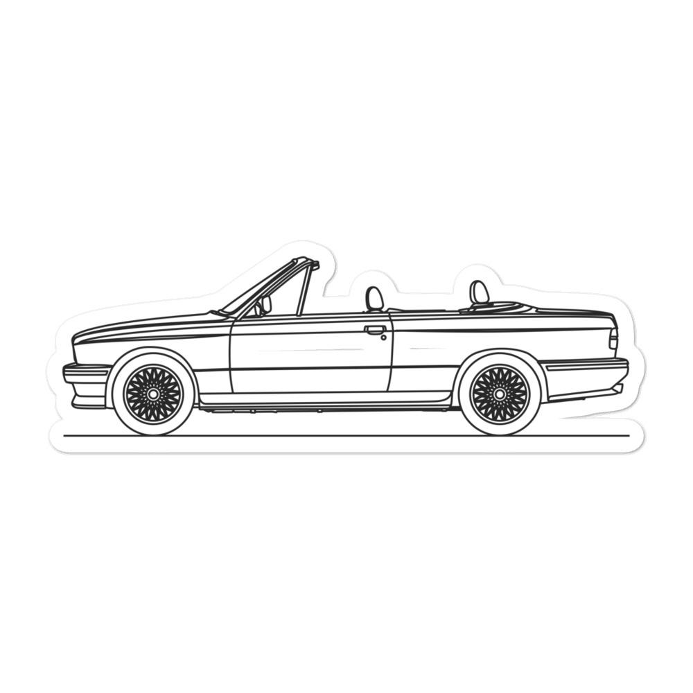 BMW E30 M3 Cabriolet Sticker - Artlines Design