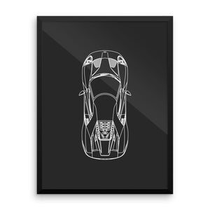 Ford GT Top View (framed photo paper)