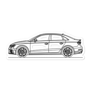 Audi 8V RS3 Sedan Sticker - Artlines Design