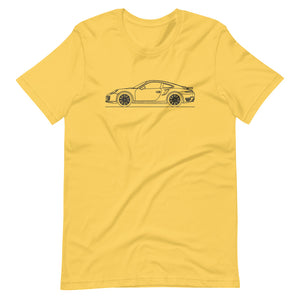 Porsche 911 991.1 Turbo T-shirt Yellow