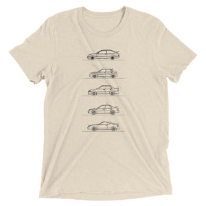 Group A Rally Cars Minimal T-shirt beige.