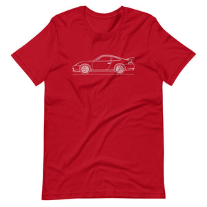 Porsche 911 996 GT3 RS T-shirt Red - Artlines Design
