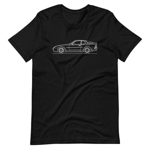 Porsche 944 Turbo S T-shirt Black - Artlines Design