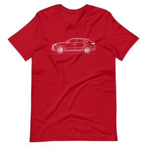 Porsche Cayenne E3 Turbo S Coupé T-shirt Red - Artlines Design