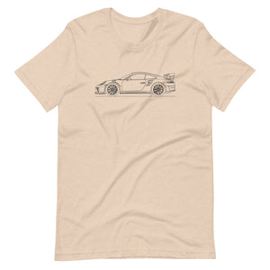 Porsche 911 991.2 GT3 RS T-shirt Heather Dust