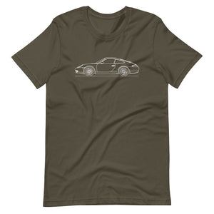 Porsche 911 996 T-shirt Army - Artlines Design