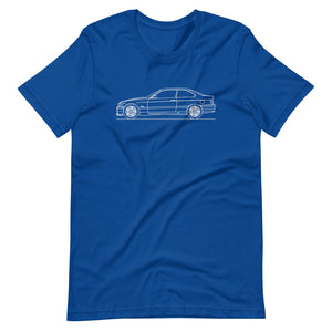 BMW E36 M3 T-shirt True Royal - Artlines Design