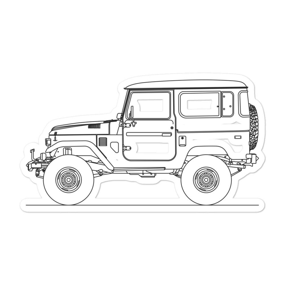 Toyota FJ40 Sticker - Artlines Design