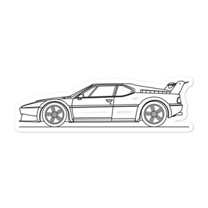 BMW E26 M1 Procar Sticker - Artlines Design