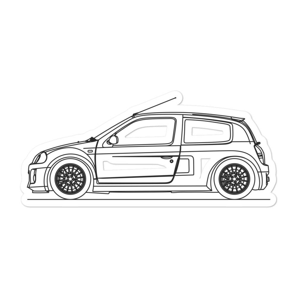 Renault Clio V6 Sticker - Artlines Design