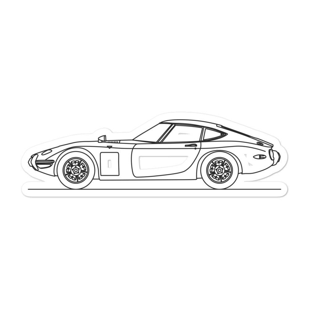 Toyota 2000GT Sticker - Artlines Design
