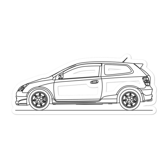 Honda Civic EP3 Type R Sticker - Artlines Design
