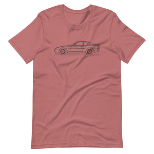 Porsche 944 Turbo S T-shirt Mauve - Artlines Design