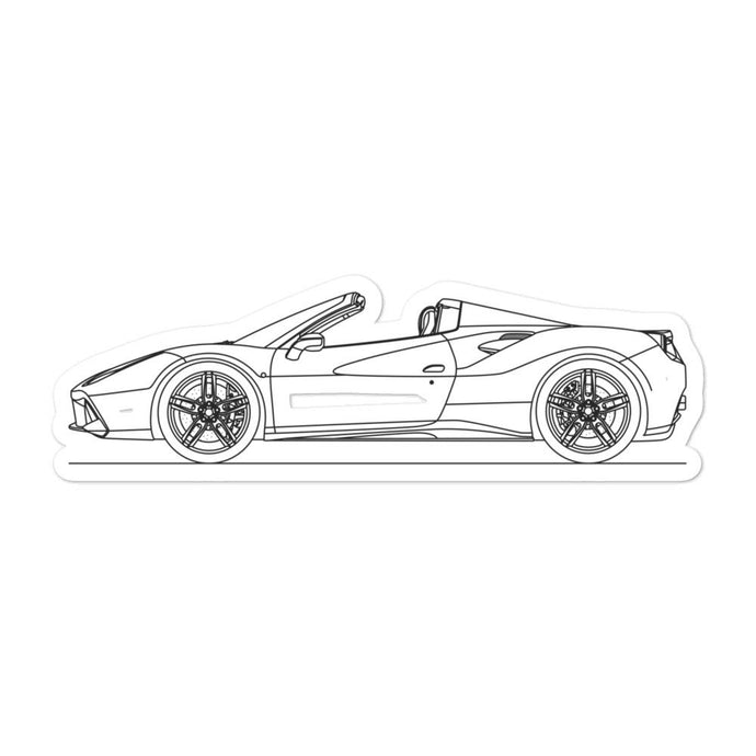 Ferrari 488 Spider Sticker