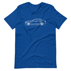 BMW F90 M5 T-shirt True Royal - Artlines Design