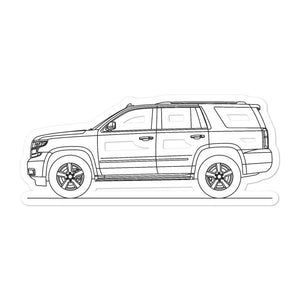 Chevrolet Tahoe GMT K2UC Sticker